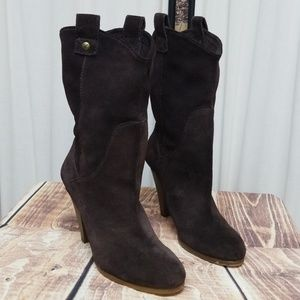 AMERICAN EAGLE OUTFITTERS BROWN SUEDE BOOTS  SZ 9